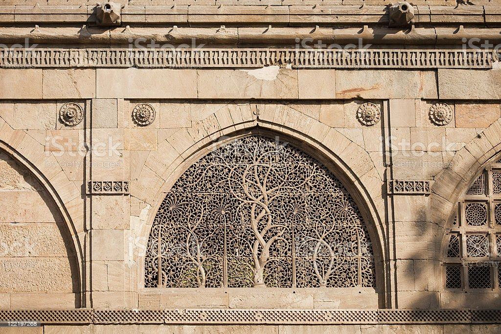 Sidi Sayed Mosque In Ahmedabad, India stock photo