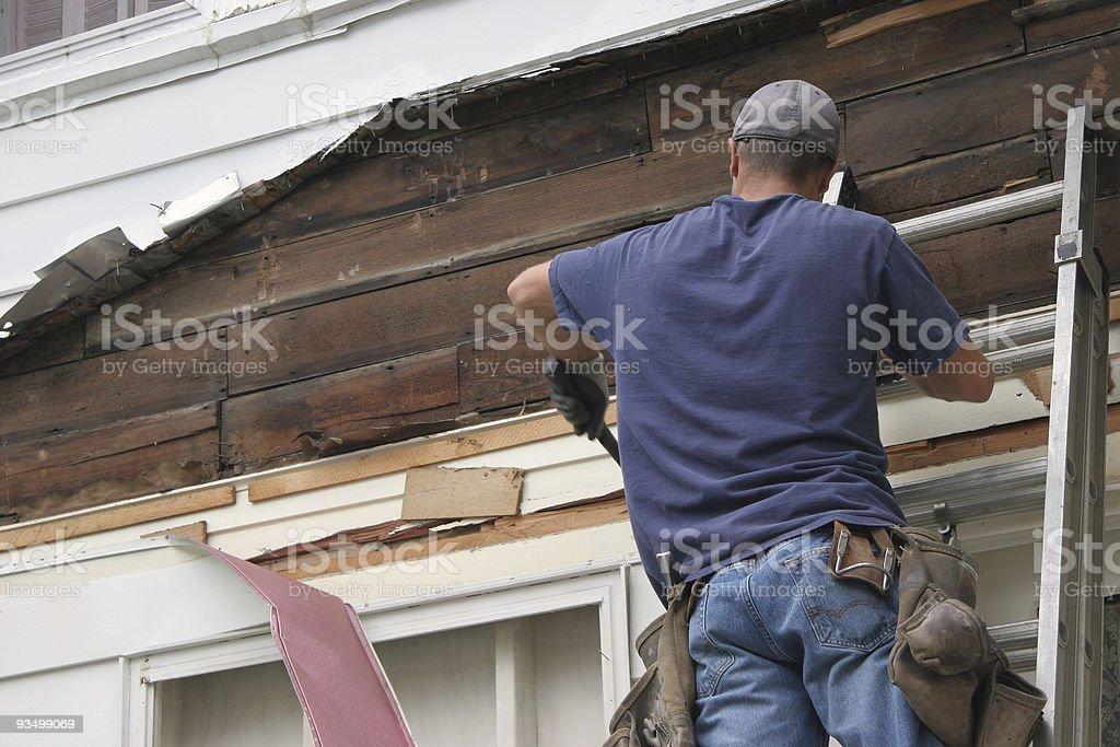 Siding Removal royalty-free stock photo