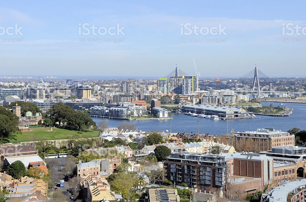 Sidney Harbour on a Winter Day royalty-free stock photo