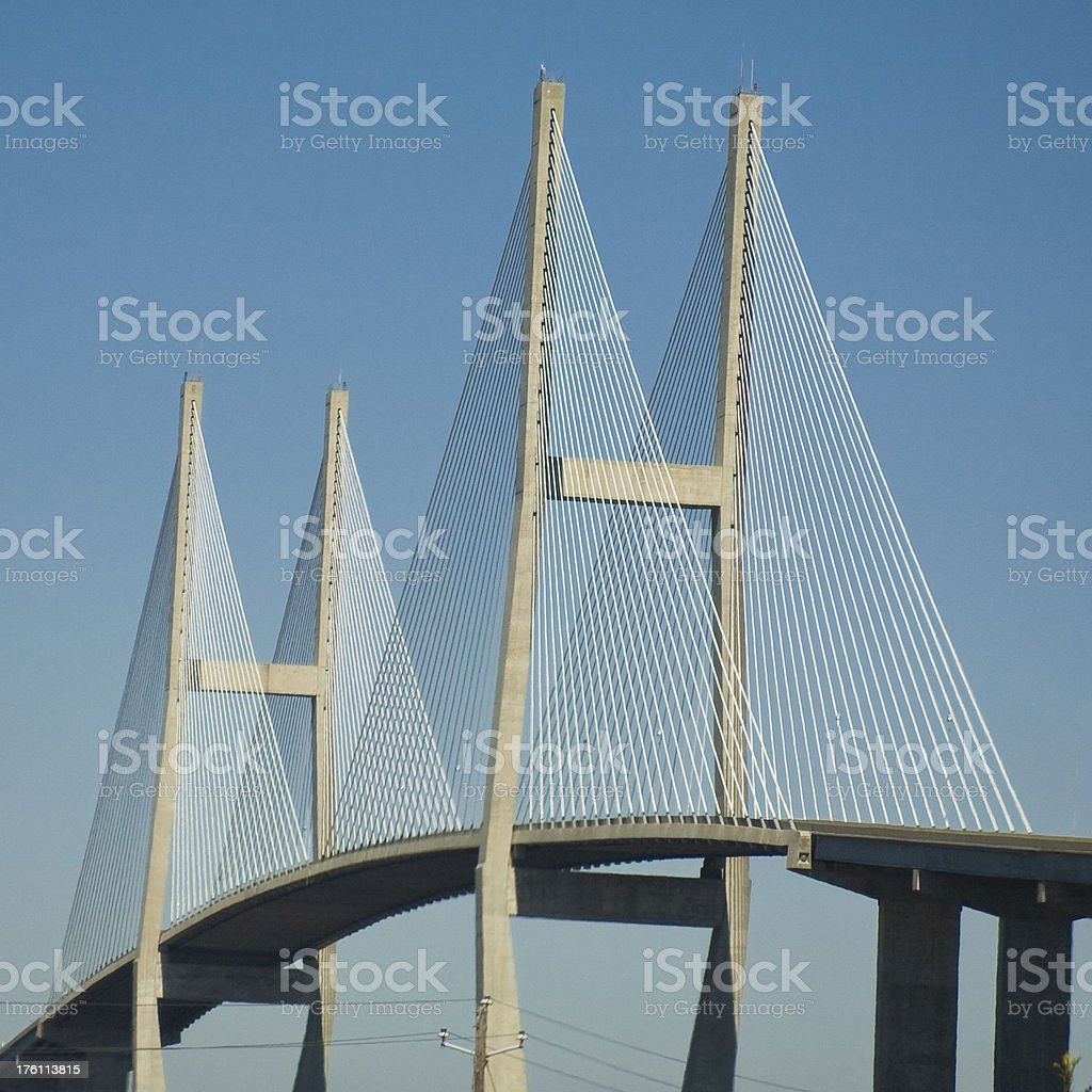 Sidney Lanier Bridge Near Brunswick, Georgia (detail) stock photo