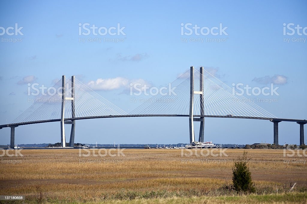 Sidney Lanier Bridge stock photo