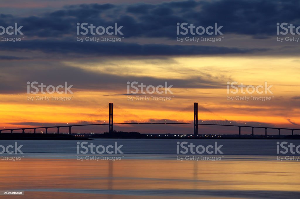 Sidney Lanier Bridge stock photo