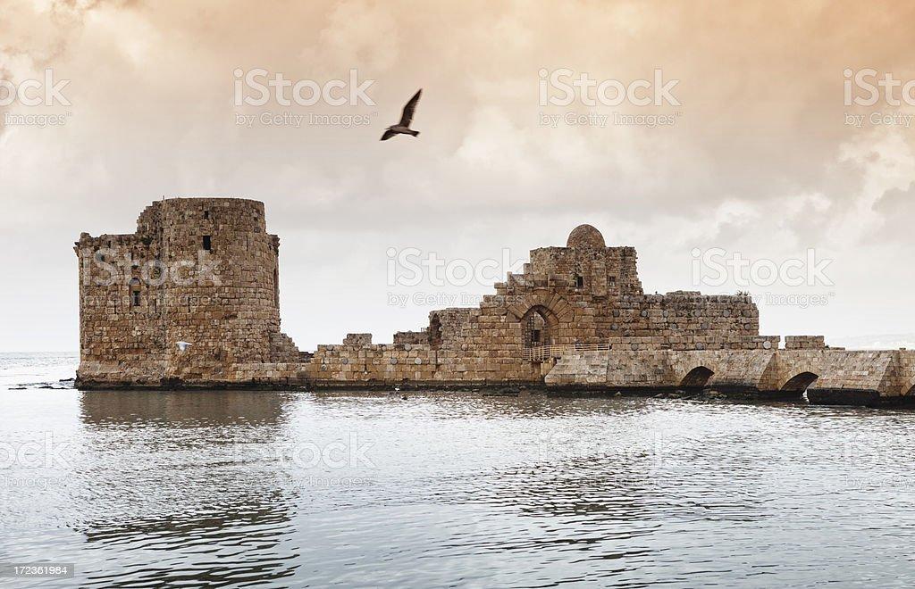 Sidon Castle, Lebanon stock photo