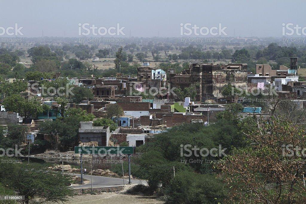 Siedlung in Indien stock photo