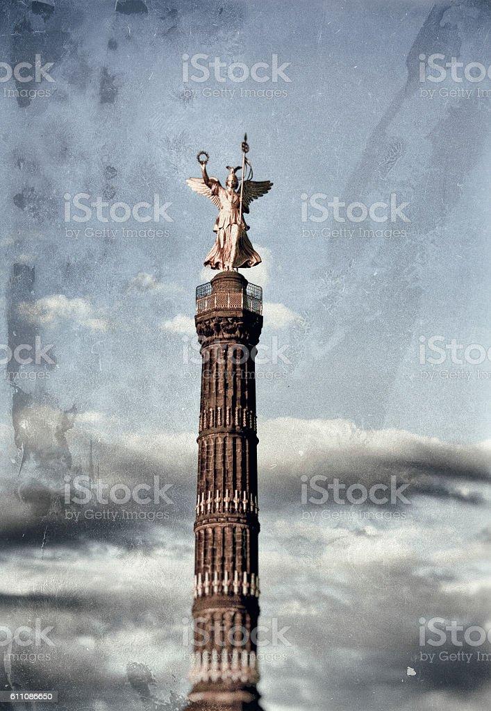 Siegessäule Berlin famous landmark in Germany stock photo