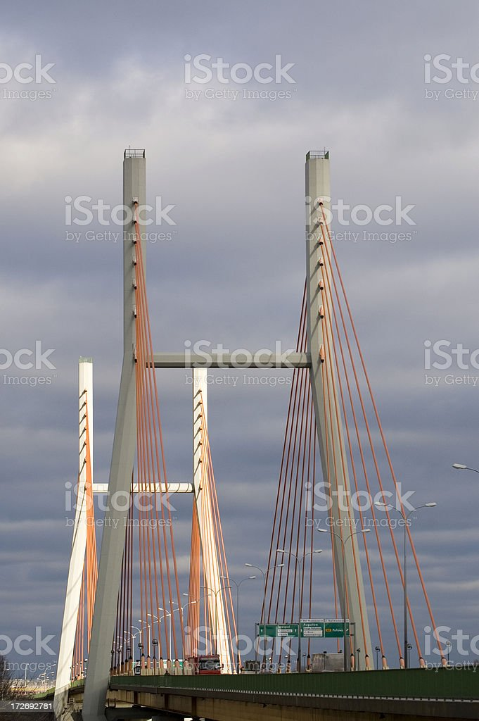 Siekierkowski bridge in Warsaw royalty-free stock photo