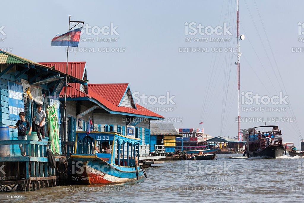 Siem Reap floating village stock photo
