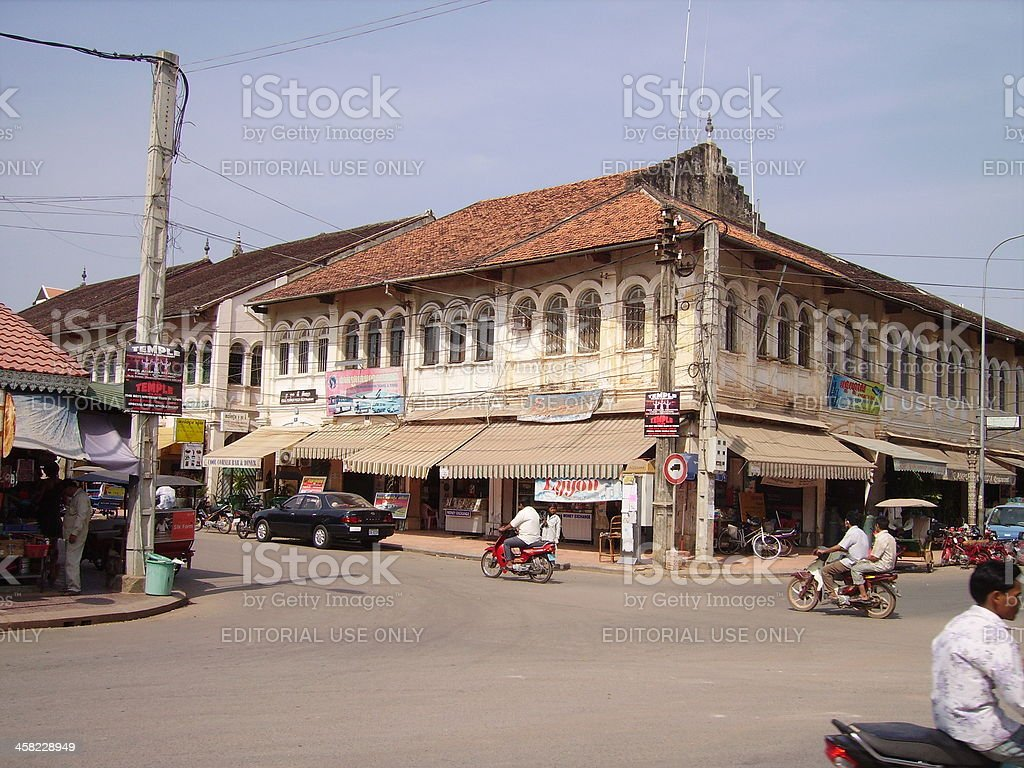 Siem Reap, Old market area Cambodia stock photo