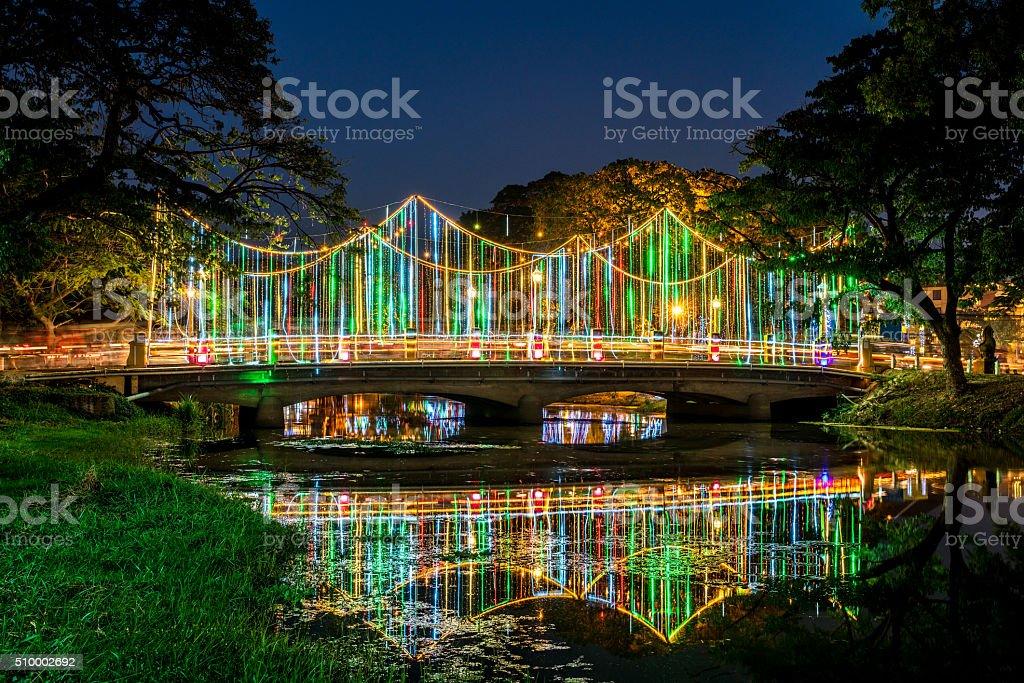 Siem Reap River Bridge Cambodia stock photo