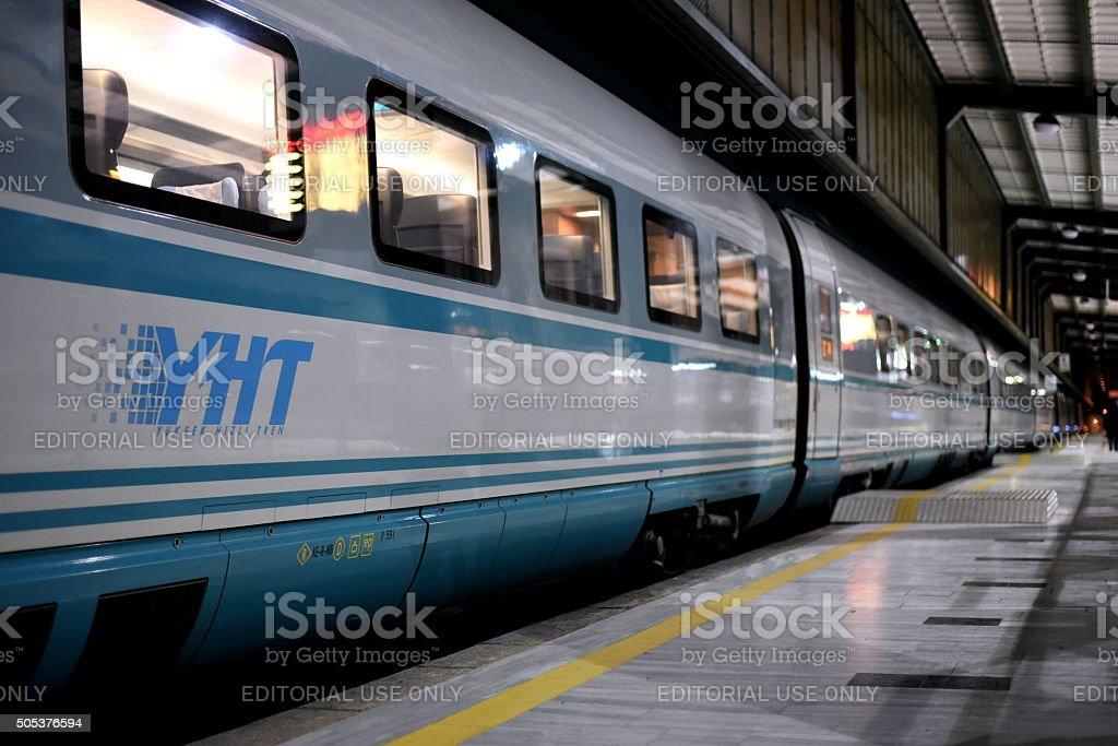 Siemens High Speed Train at Ankara Railway Station stock photo