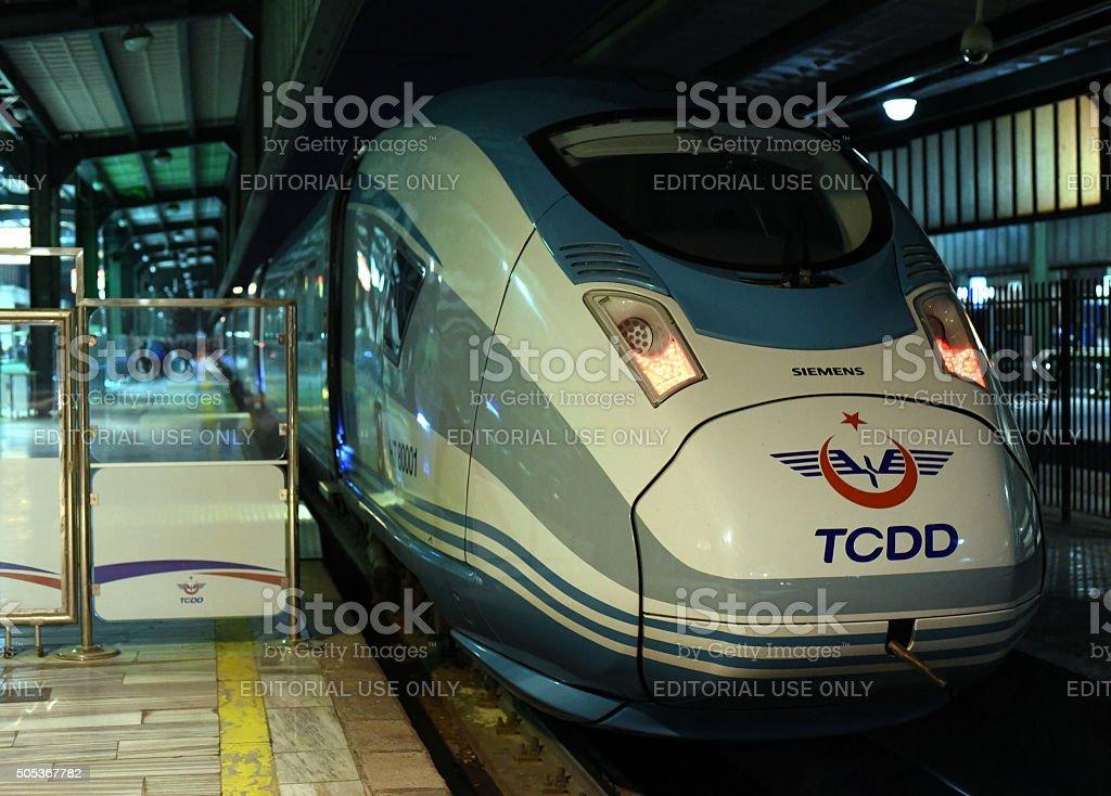 YHT TCDD - Siemens High Speed Train of Turkey stock photo