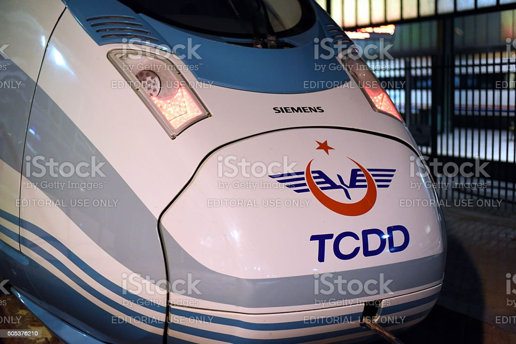 Siemens High Speed Train of Turkey - YHT TCDD stock photo