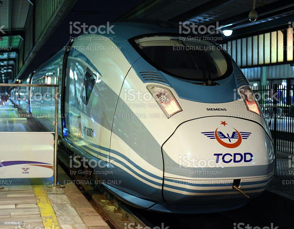 YHT TCDD - Siemens High Speed Train stock photo