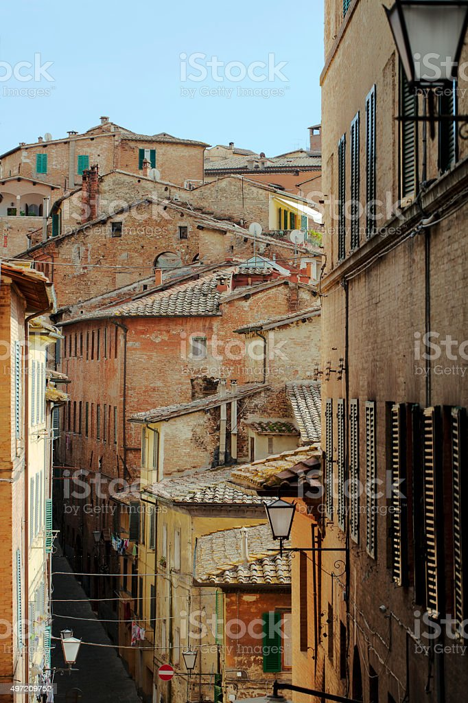 Siena buildings and rooftops stock photo