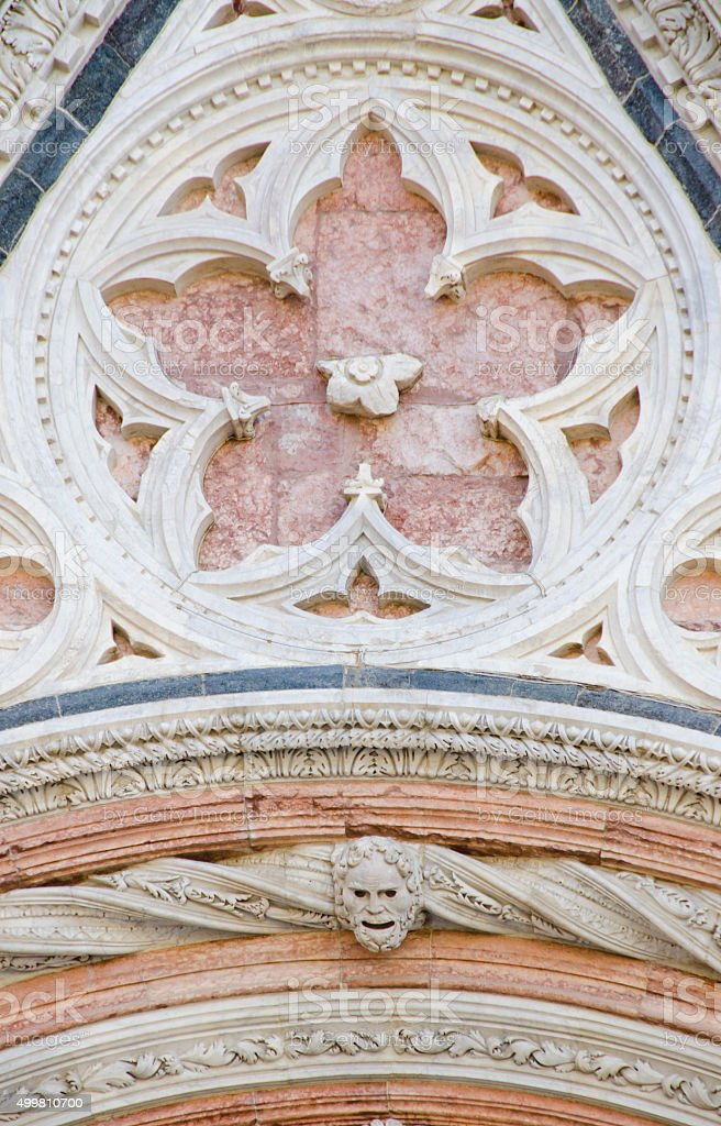 Siena Cathedral Exterior Facade stock photo