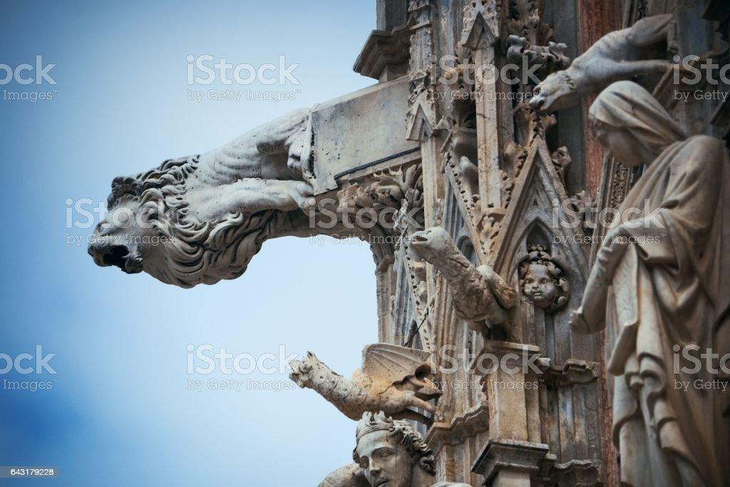 Siena Cathedral gargoyle stock photo