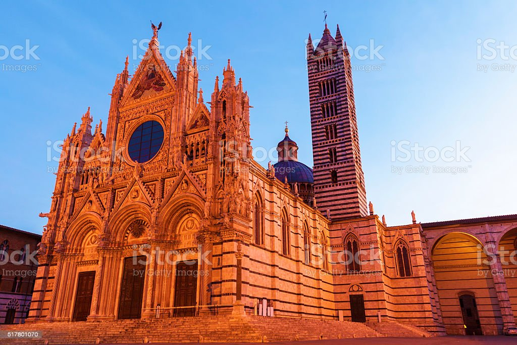 Siena Cathedral in Siena stock photo