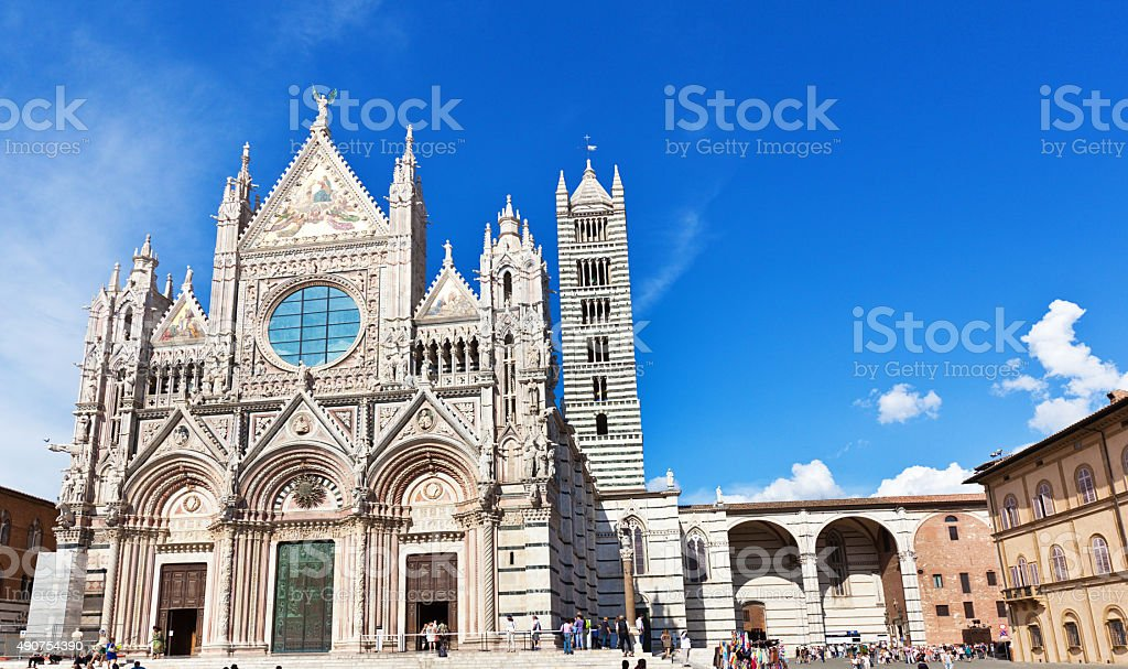 Siena Cathedral of Saint Mary of the Assumption stock photo