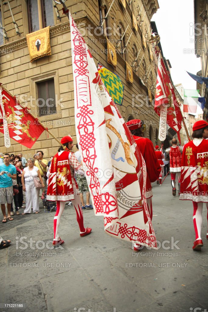Siena contrades parade stock photo