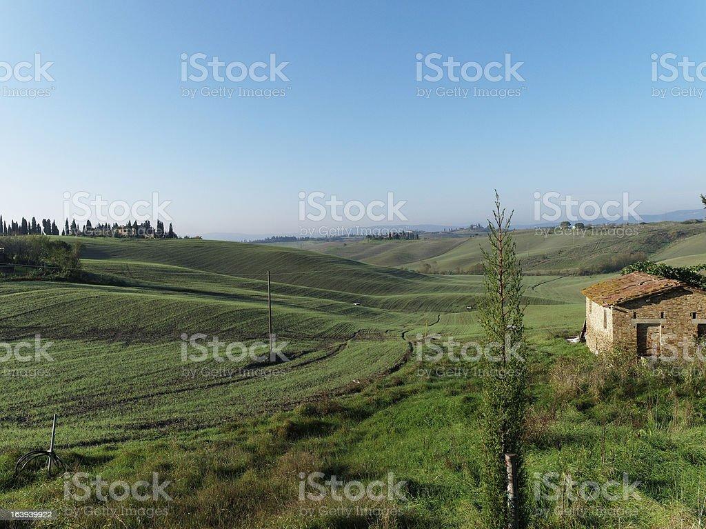 Siena countryside, Tuscany, Italy royalty-free stock photo