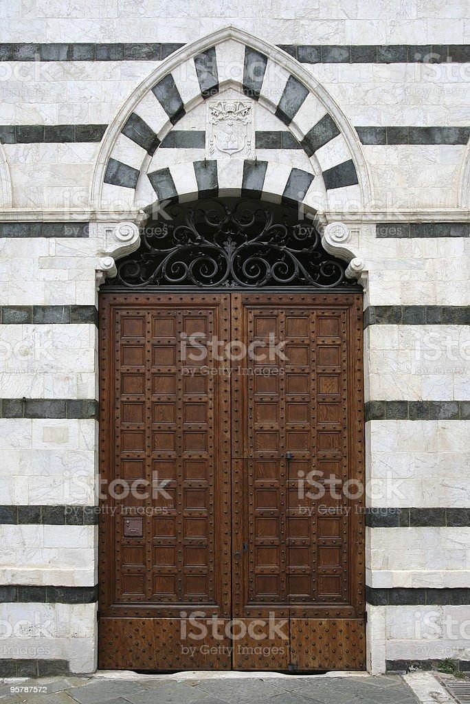 Siena dominant door stock photo