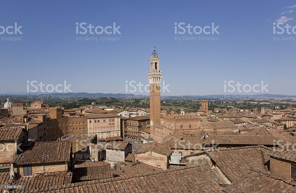 Siena Il Campo stock photo