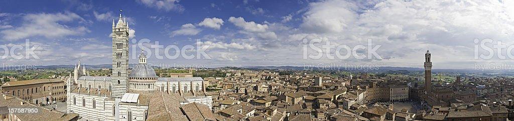 Siena Italy Torre Mangia Palazzo Pubblico Il Campo Duomo Tuscany royalty-free stock photo