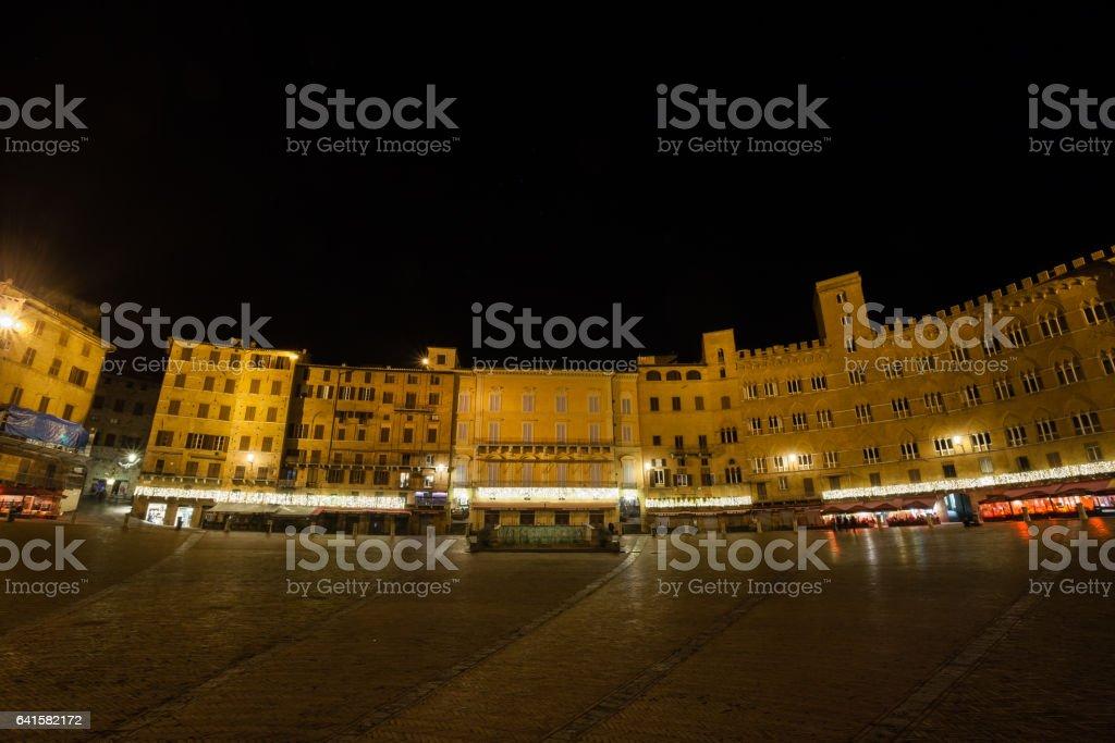 Siena night view, Tuscany, Italy stock photo