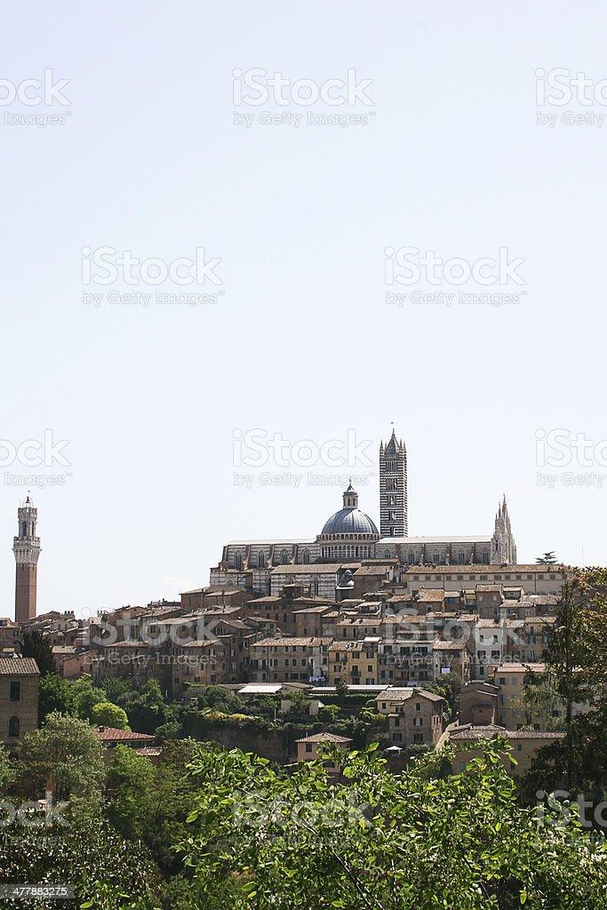 Siena old town, Tuscany, Italy stock photo