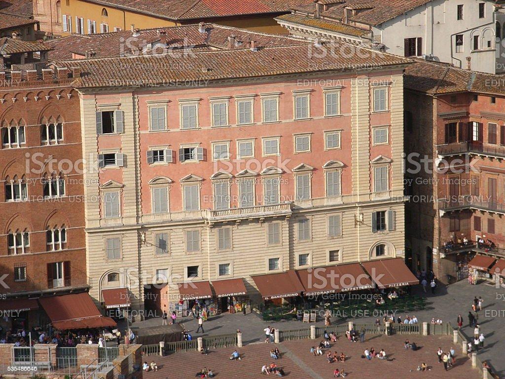 Siena - Palazzo Chigi-Zondadari stock photo