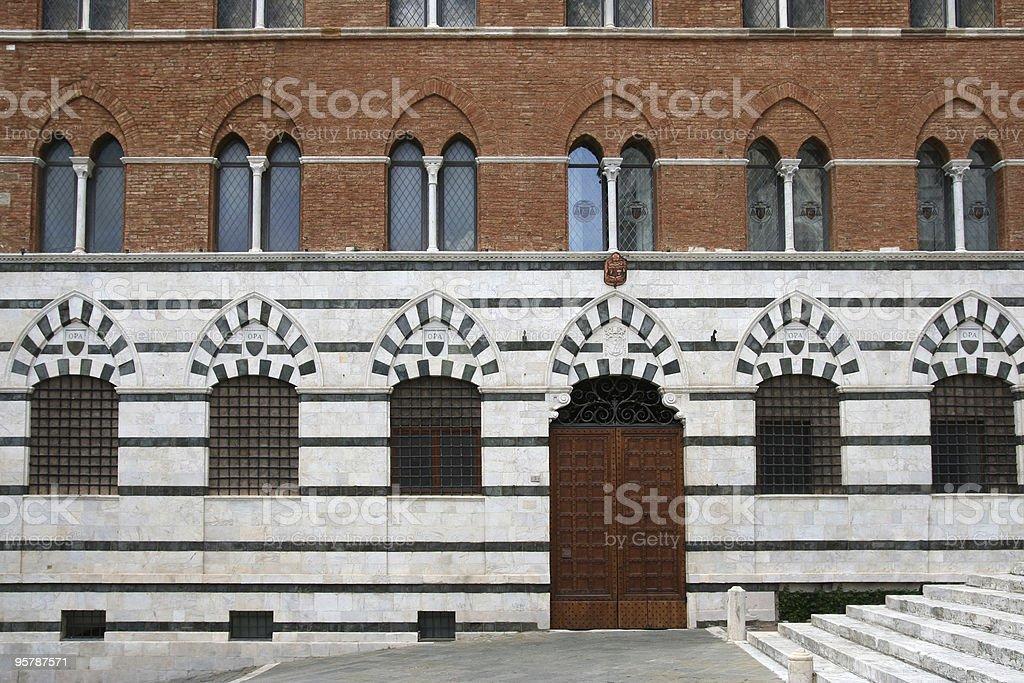 Siena palazzo duomo stock photo