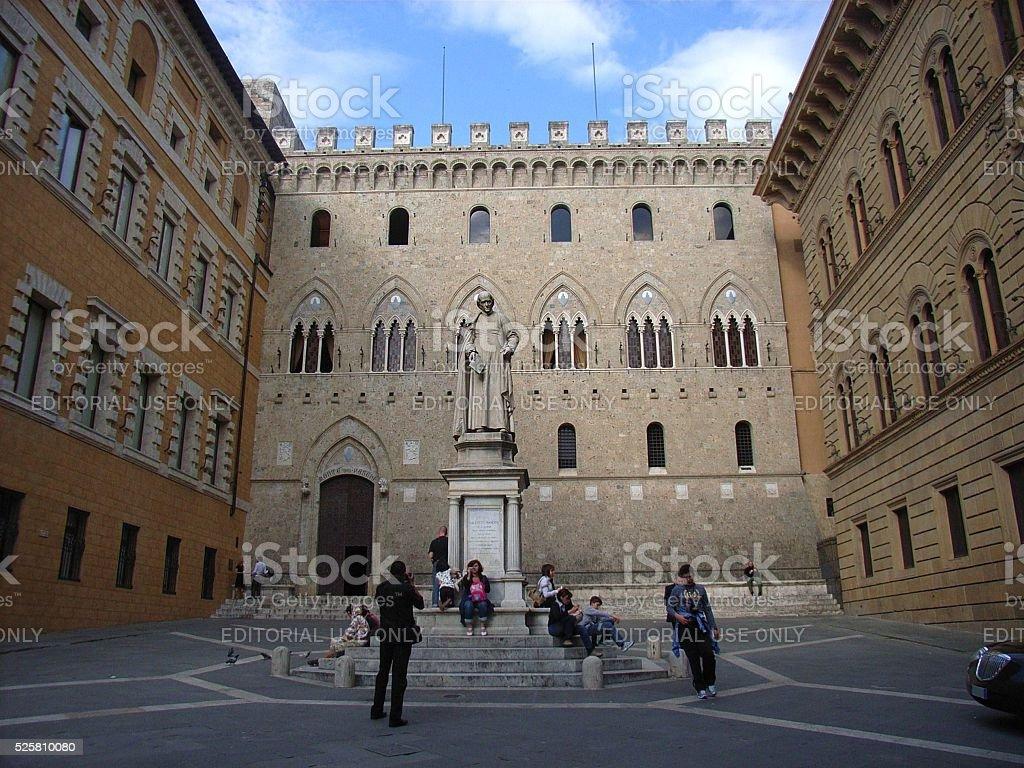 Siena - Palazzo Salimbeni stock photo