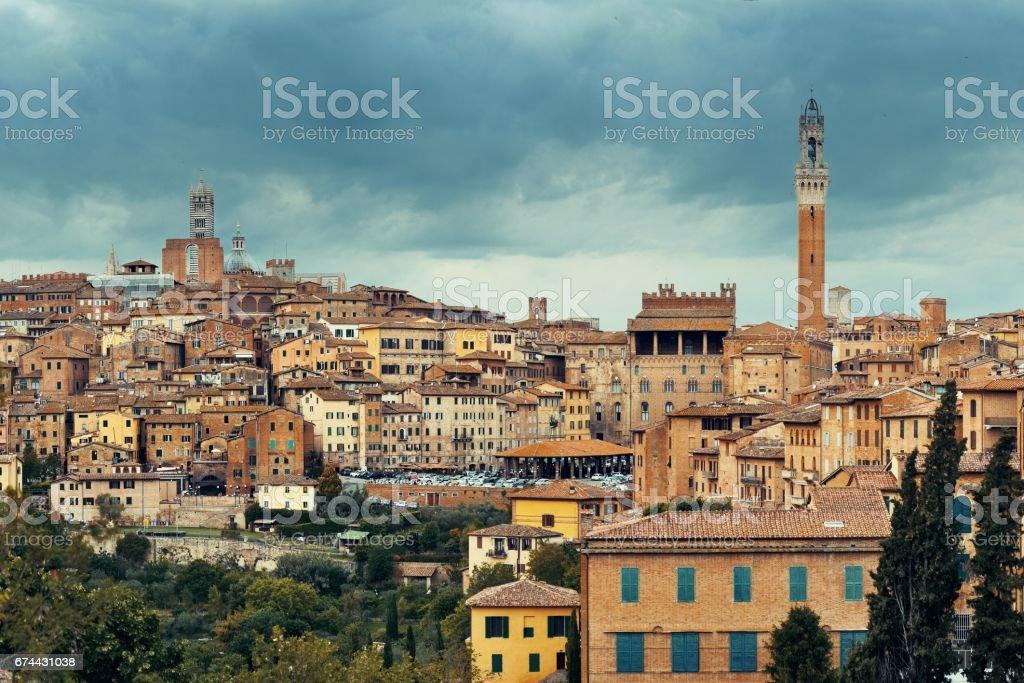 Siena panorama stock photo