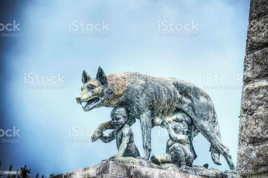 Siena she-wolf statue stock photo