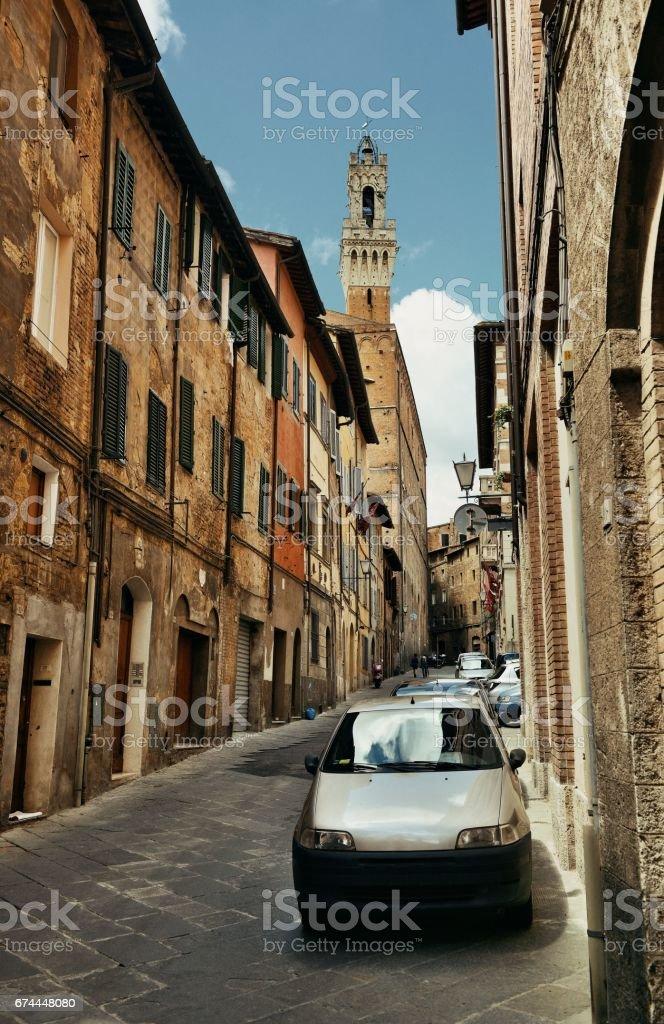 Siena street view stock photo