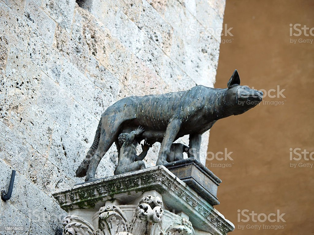 Siena - the town's emblem royalty-free stock photo