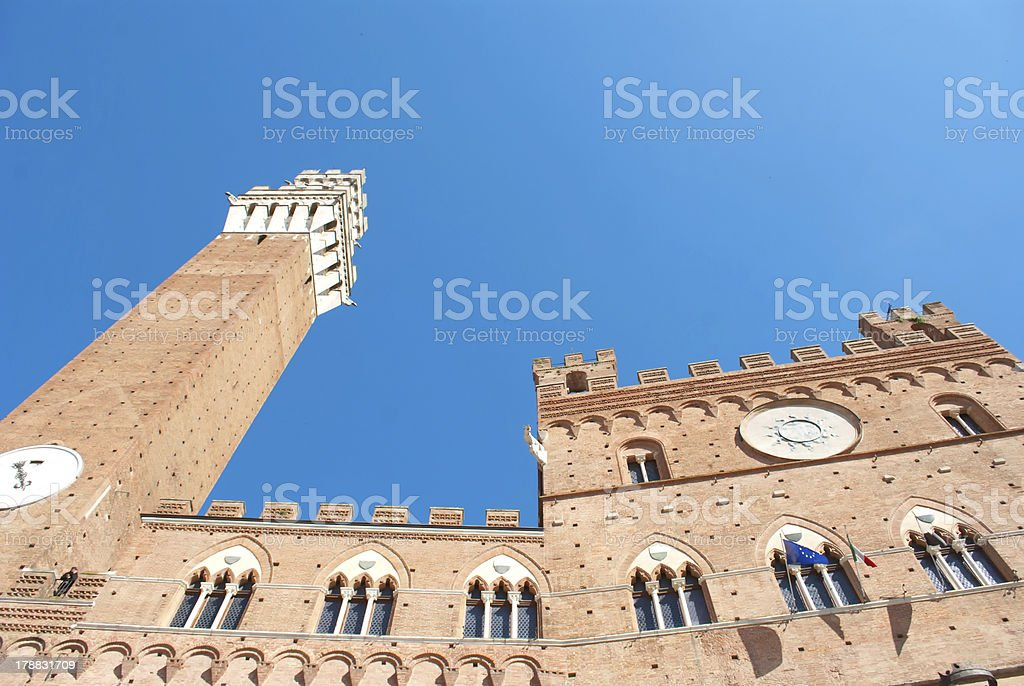 Siena torwn hall stock photo