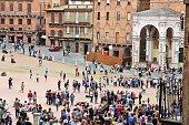 Siena tourists