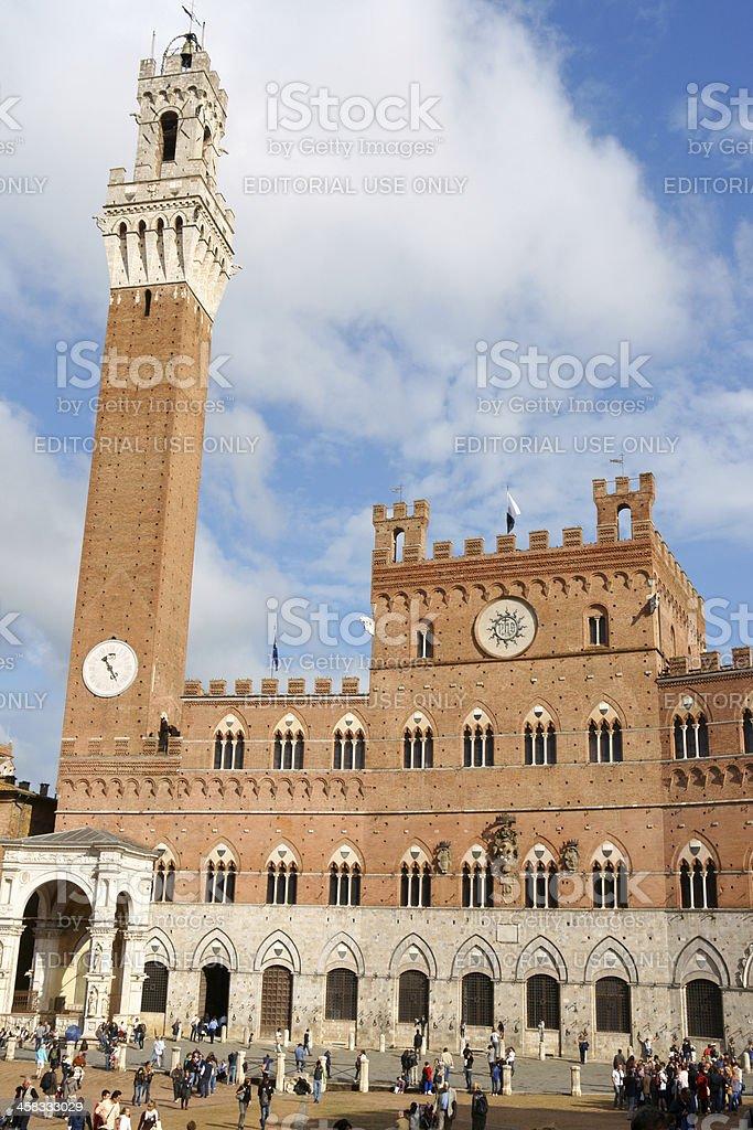 Siena Town Hall (Palazzo Comunale) stock photo