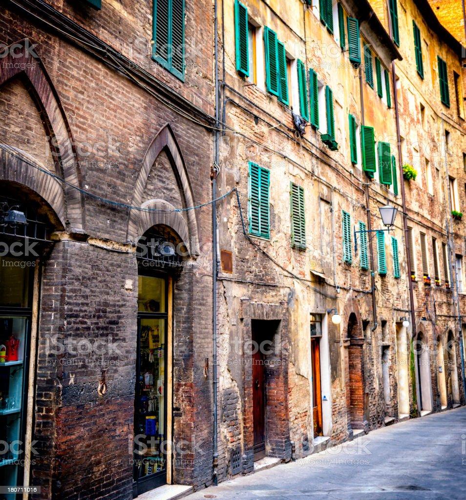 Siena town street royalty-free stock photo