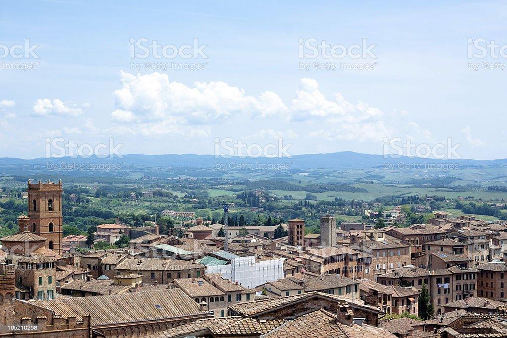Siena view royalty-free stock photo