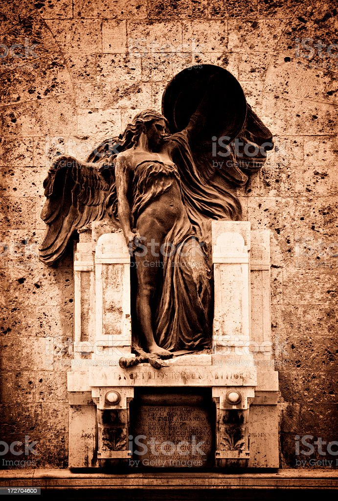 siena winged angel stock photo