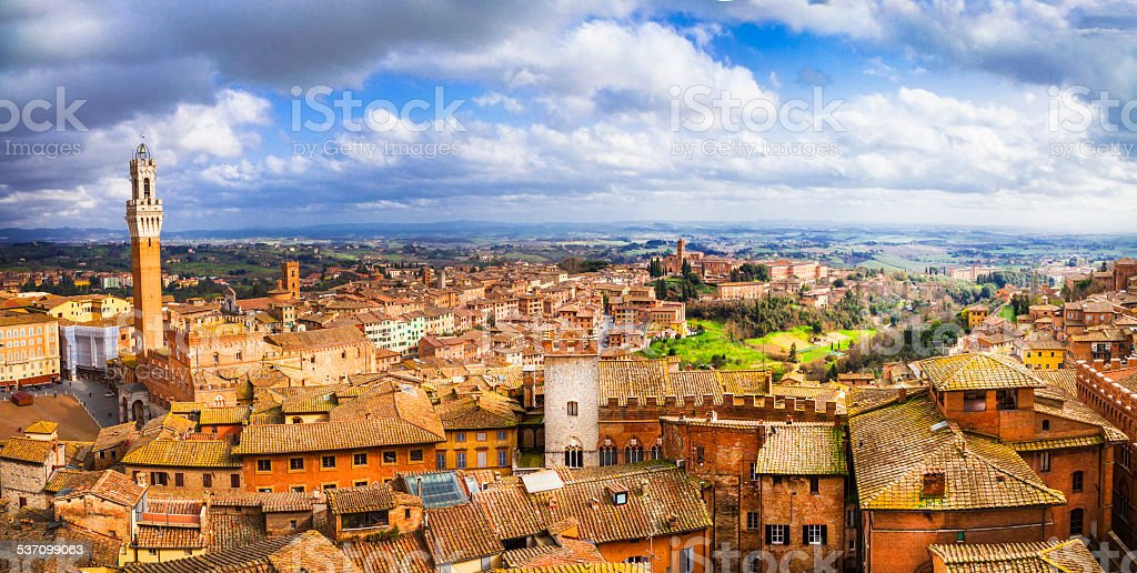 Siena,Tuscany, Italy. stock photo