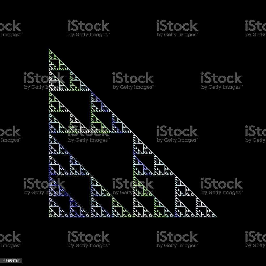 Sierpinski triangle fractal royalty-free stock photo