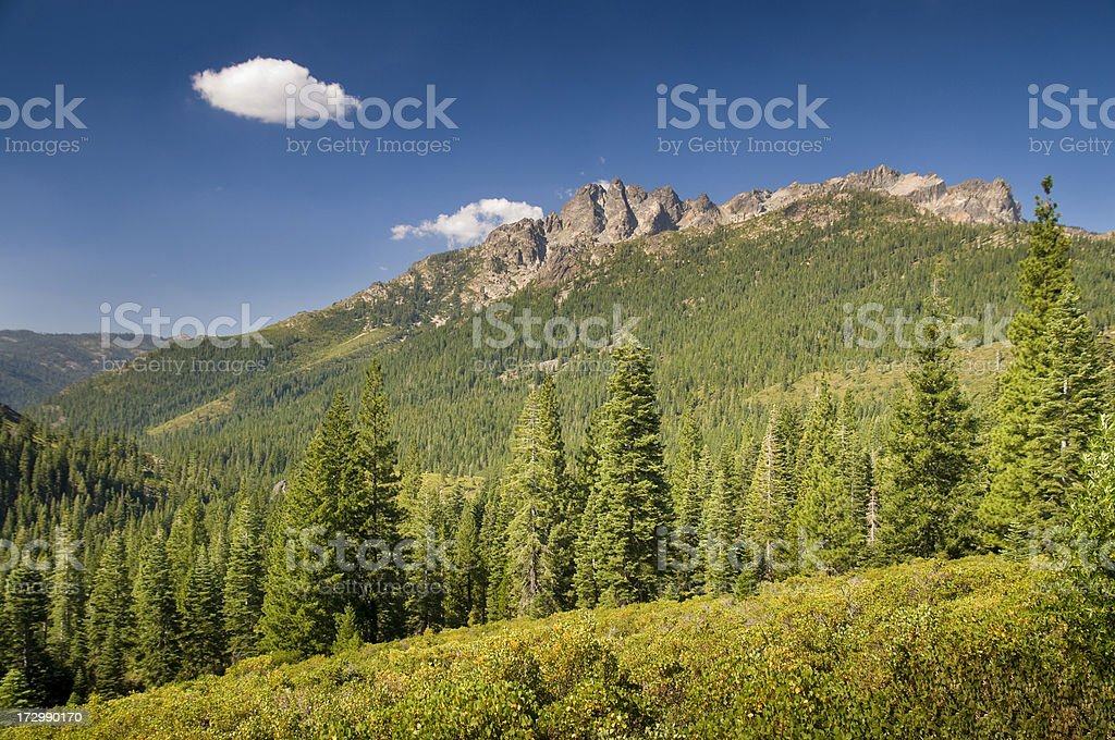 Sierra Buttes royalty-free stock photo
