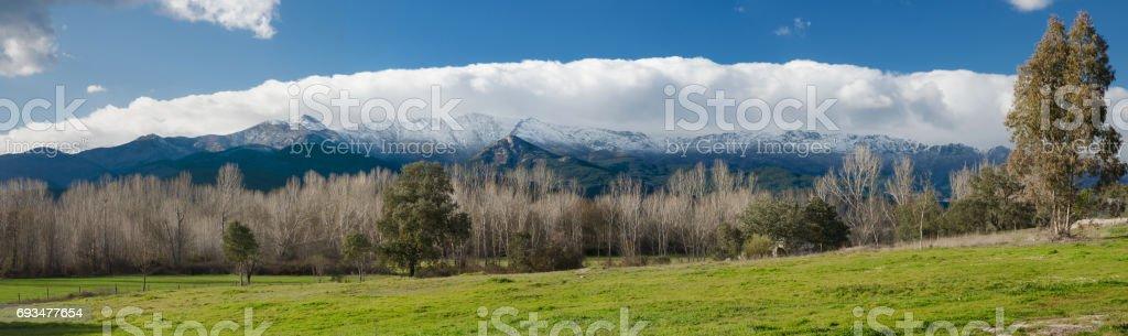 Sierra de Gredos, Avila, Spain stock photo