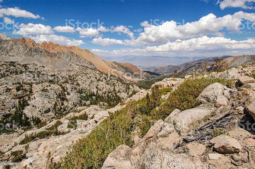 Sierra East Slope View stock photo