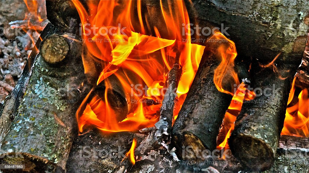 HDR Sierra Flames stock photo