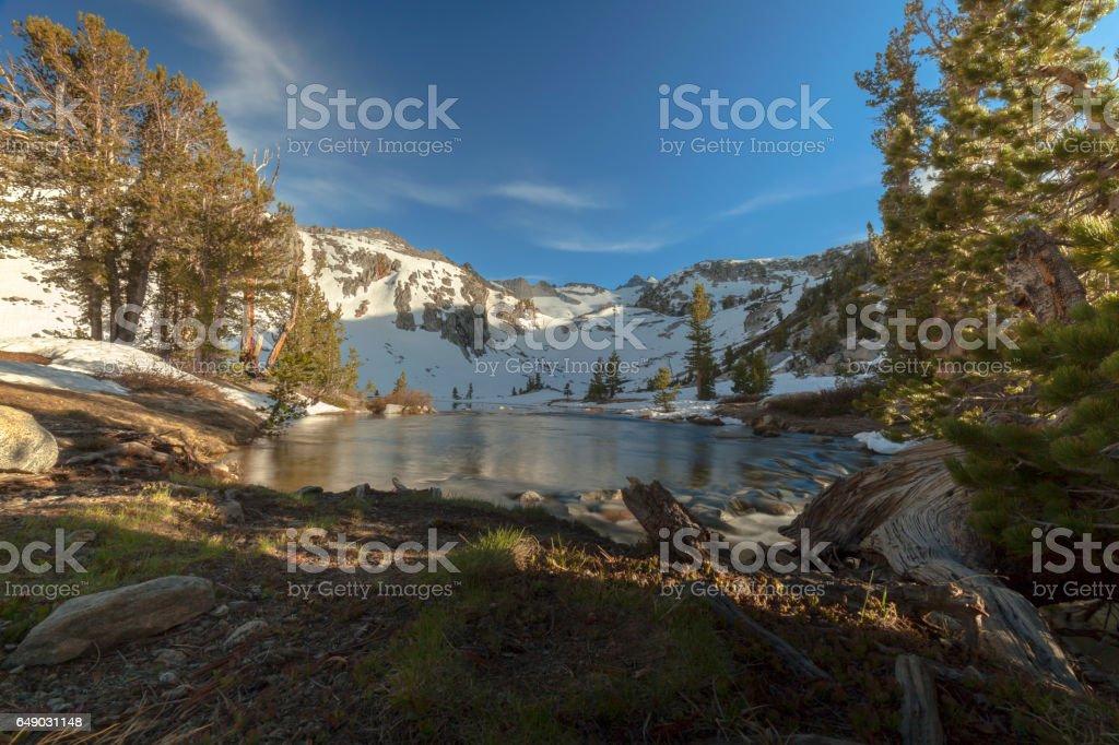 Sierra Glacier River stock photo