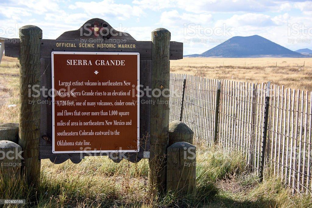 Sierra Grande Capulin Volcano stock photo